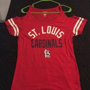 Tops - Cardinals cold shoulder top
